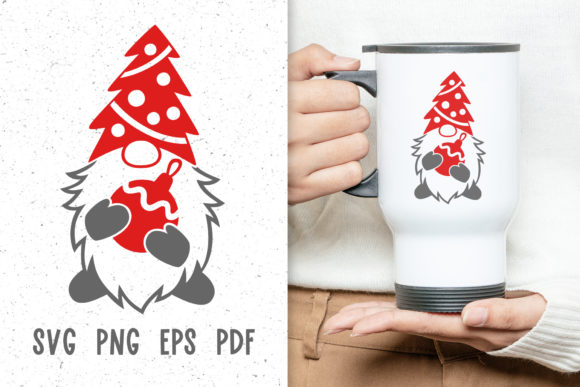 Christmas Mug Design with Gnome Svg Graphic Crafts By GreenWolf Art