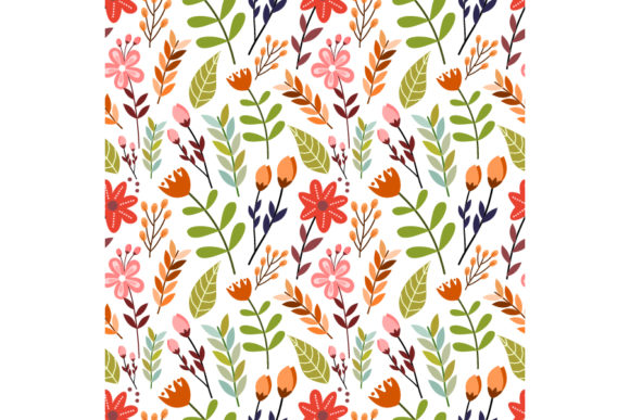 Colorful Flower Seamless Pattern Graphic Patterns By visitindonesia