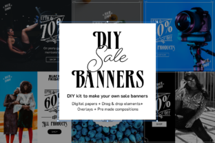 Print on Demand: DIY Sale Banners Kit Graphic Product Mockups By Pixtordesigns