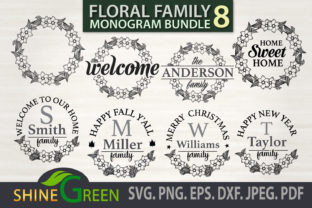 Print on Demand: Family Monogram Bundle - Christmas, Fall Graphic Crafts By ShineGreenArt