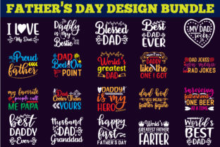 Print on Demand: Father's Day Design Bundle Graphic Print Templates By creative store.net 1