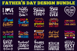 Print on Demand: Father's Day Design Bundle Graphic Print Templates By creative store.net 2
