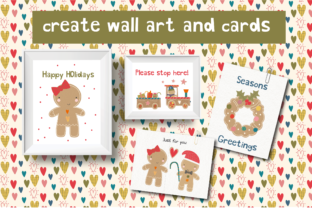 Print on Demand: Gingerbread Clipart Set Graphic Illustrations By poppymoondesign 2