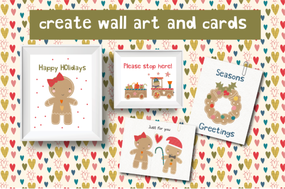 Gingerbread Clipart Set Graphic Download