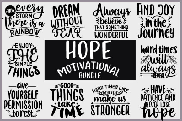 HOPE MOTIVATIONAL BUNDLE Graphic Crafts By creative store.net