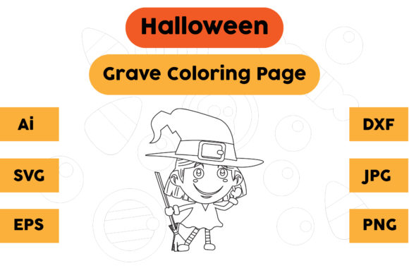 Halloween Coloring Page - Monster 07 Graphic Coloring Pages & Books Kids By isalsemarang