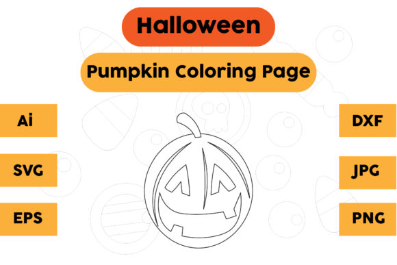 Halloween Coloring Page - Pumpkin 18 Graphic Coloring Pages & Books Kids By isalsemarang
