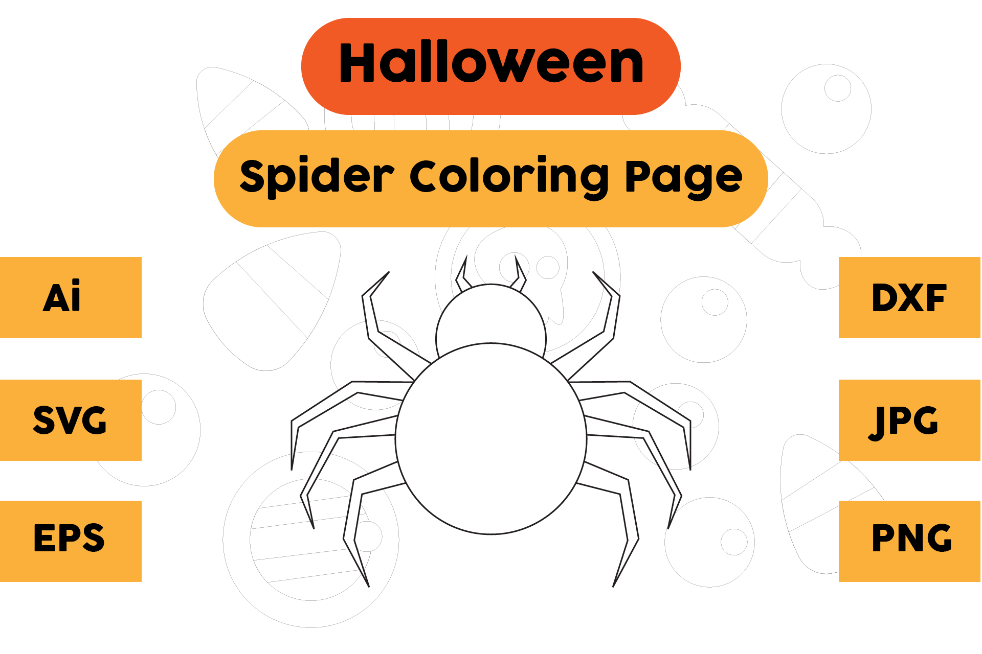 Halloween Coloring Page Spider 02 Graphic By Isalsemarang Creative Fabrica