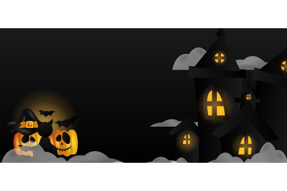 Halloween Night Castle Cloud Pumpkin Cat Graphic Backgrounds By Muhammad Rizky Klinsman