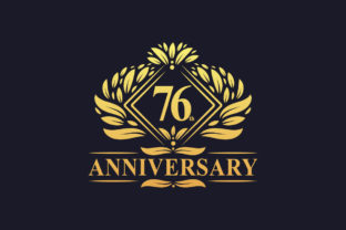 Print on Demand: Luxury Floral 76th Anniversary Logo. Graphic Logos By Netart
