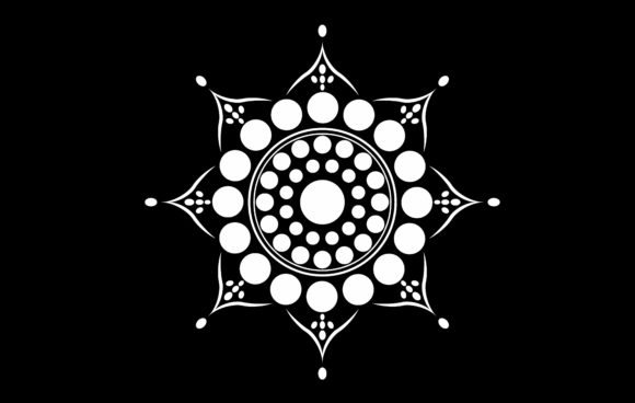 Mandala of Simple Design Graphic Patterns By asesidea