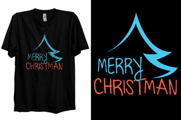 Merry Christmas T-shirt Design Holiday Graphic Print Templates By Storm Brain
