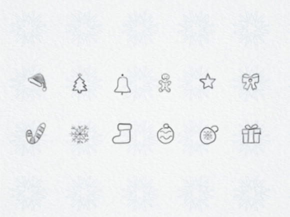 Mini Hand Drawn Christmas Icons Graphic