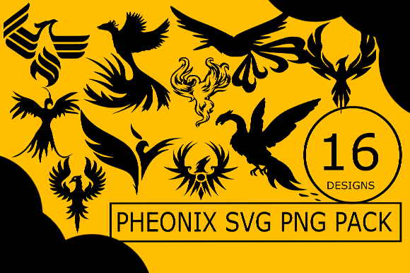 Pheonix Svg Png Design Bundle Bird Cut Graphic Illustrations By CactusTreeDesigns