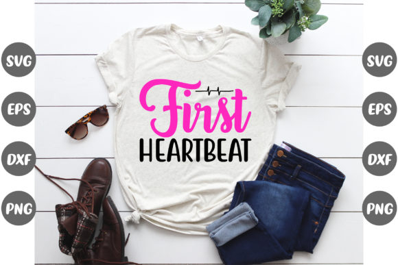 Print on Demand: Pregnancy, First Heartbeat Graphic Print Templates By Design Store Bd.Net