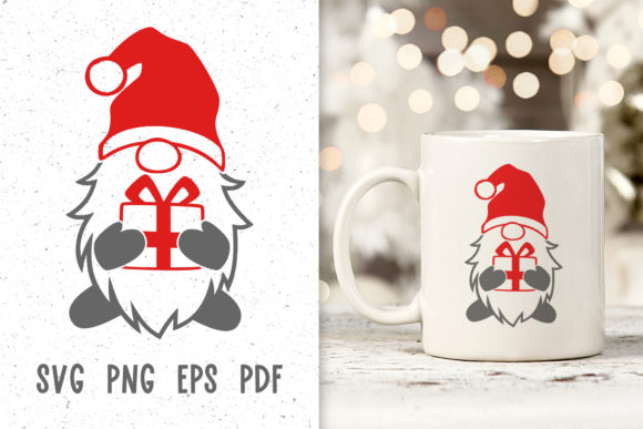 Santa Gnome - Christmas Decor Svg Graphic Crafts By GreenWolf Art