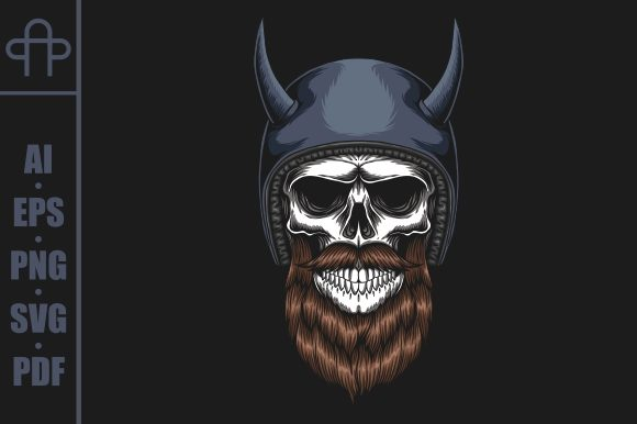 Print on Demand: Skull Biker Wearing a Helmet Graphic Illustrations By Andypp