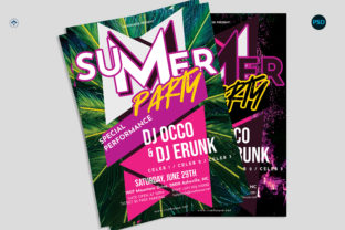 Summer Party Flyer V1 Graphic Print Templates By risegraph