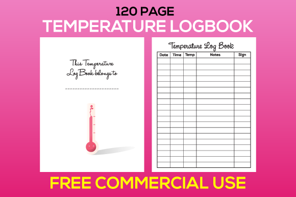 Print on Demand: Temperature Logbook Tracker KDP Interior Graphic KDP Interiors By MK DESIGN