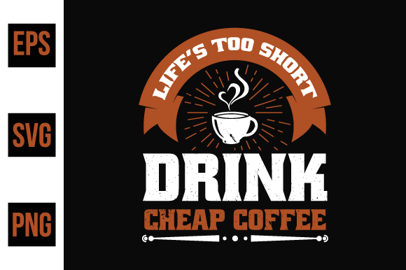 Print on Demand: Coffee Typographic Saying Design. Graphic Print Templates By ajgortee