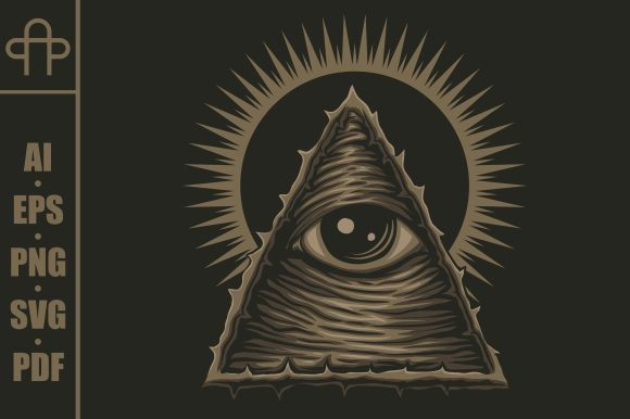 Print on Demand: One Eye Illuminati Vector Illustration Graphic Illustrations By Andypp