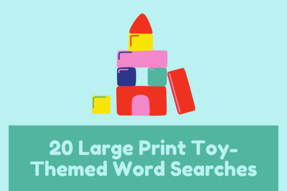 20 Toy Word Searches KDP Interior Graphic