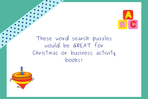 20 Toy Word Searches KDP Interior Graphic Download