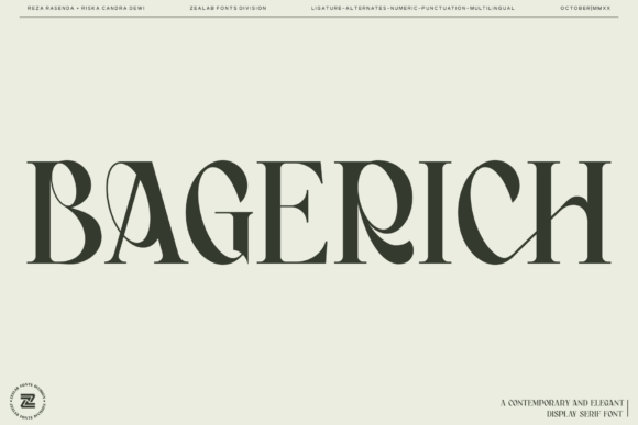 Print on Demand: Bagerich Serif Font By zealab fonts division