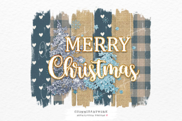 Blue Plaid Christmas Sublimation Images Graphic Crafts By Chonnieartwork