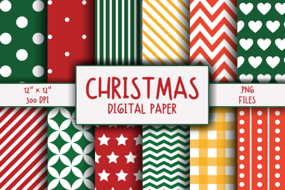 Print on Demand: Christmas Pattern Digital Paper Graphic Patterns By atlasart