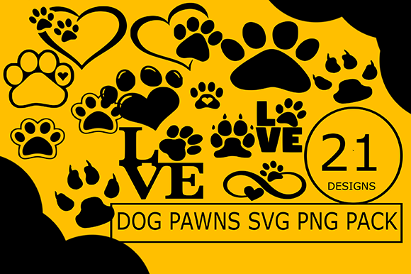 Dog Pawns Svg Png Design Bundle Cricut Graphic Illustrations By CactusTreeDesigns