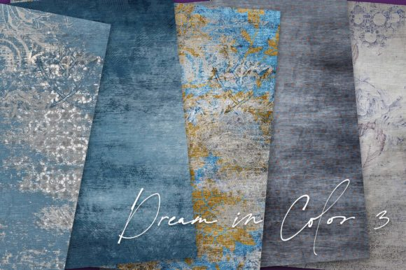 Print on Demand: Dream Im Color Blue Backgrounds Graphic Backgrounds By LilBitDistressed