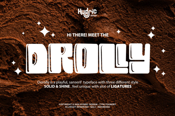 Print on Demand: Drolly Display Font By Hydric Design