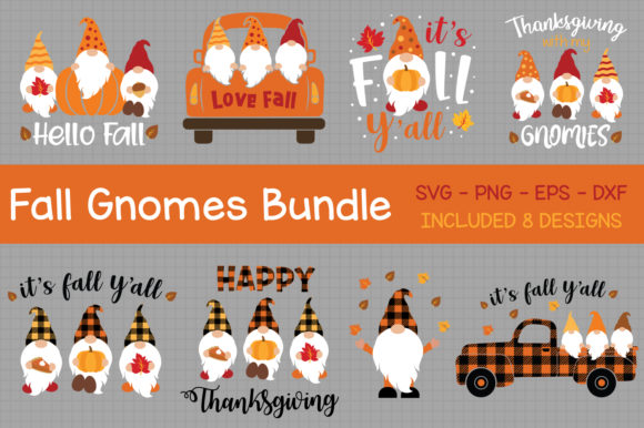 Fall Gnomes Bundle Svg Graphic Crafts By All About Svg