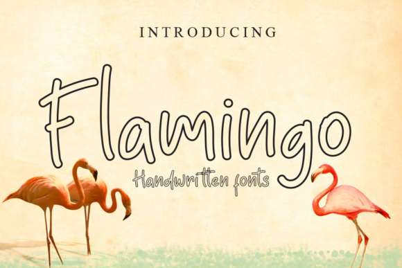 Print on Demand: Flamingo Display Font By gunawanletter