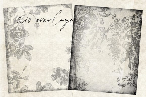 Print on Demand: Floral Overlays 1 Graphic Illustrations By LilBitDistressed