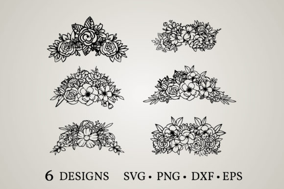 Flower Crown Svg Graphic Print Templates By Euphoria Design