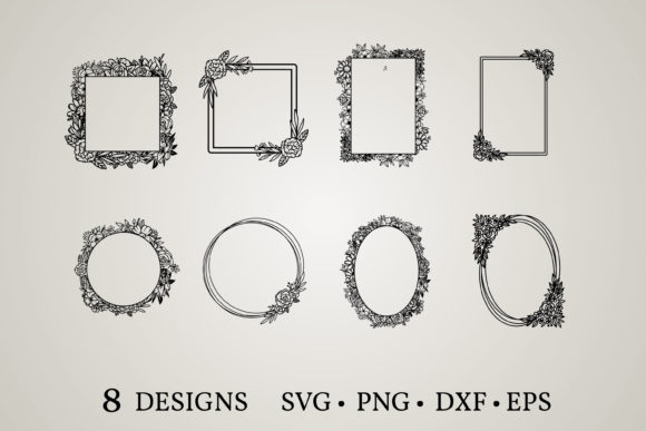 Flower Frame Svg Graphic Print Templates By Euphoria Design