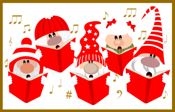 Gnomes Singing Graphic Crafts By CREATIVE M.D