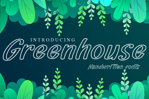 Print on Demand: Greenhouse Display Font By gunawanletter
