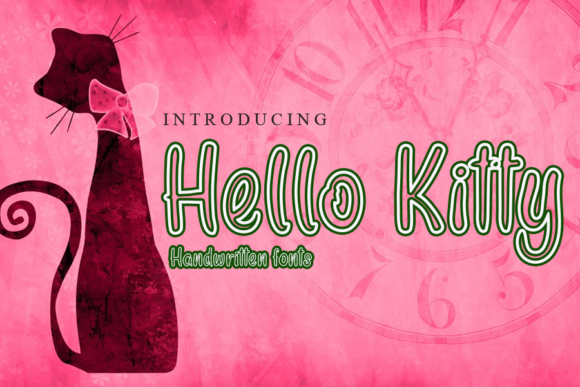 Print on Demand: Hello Kitty Display Font By gunawanletter