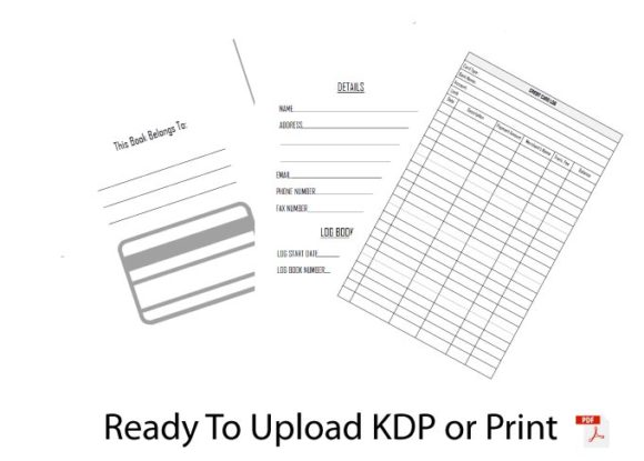 KDP Check and Debit Card Register Graphic KDP Interiors By RedCreations