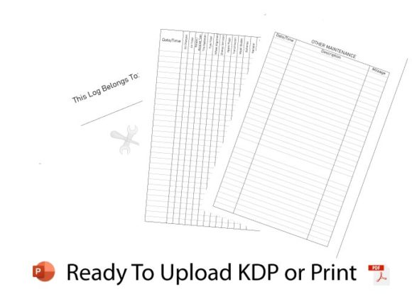 KDP Vehicle Maintenance Log Book Graphic KDP Interiors By RedCreations