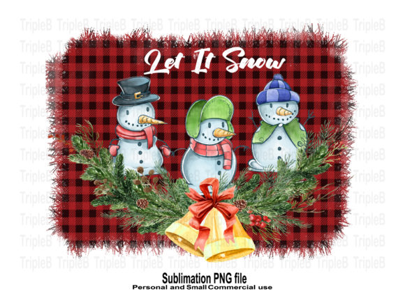 Print on Demand: Let It Snow Merry Christmas Sublimation Graphic Crafts By TripleBcraft