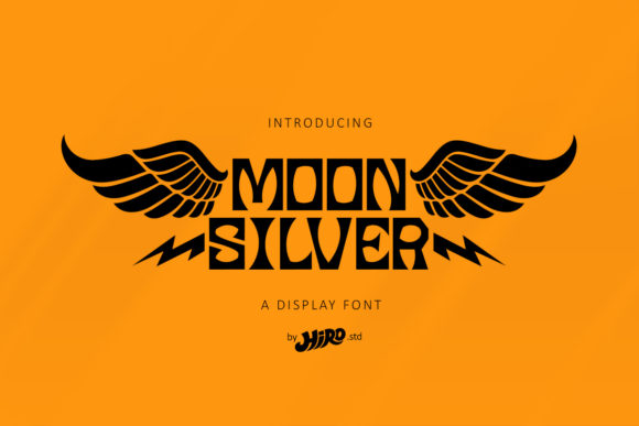 Print on Demand: Moon Silver Display Font By HIRO.std