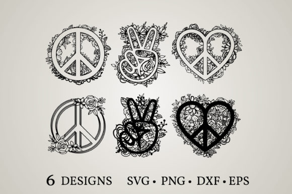 Peace Flower Svg Graphic