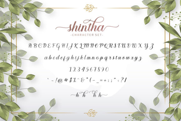 Shintha Font Preview