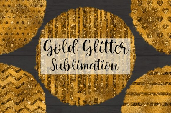 Sublimation Gold Glitter Background Graphic Backgrounds By PinkPearly