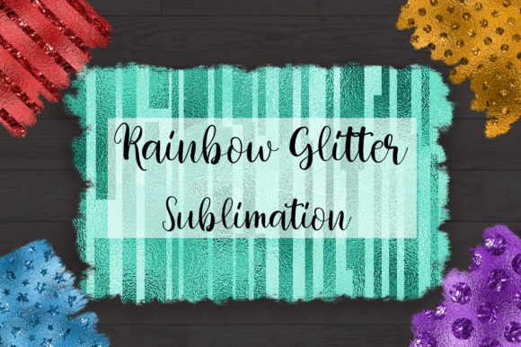 Sublimation Rainbow Glitter Background Graphic Backgrounds By PinkPearly