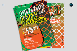 Summer Party Flyer V2 Graphic Print Templates By risegraph